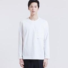 포켓포인트 롱슬리브 티셔츠 [WHITE]