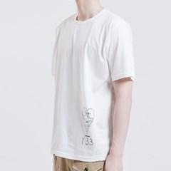 Heart 숏슬리브 실켓 티셔츠 [WHITE]