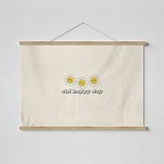 스마일 꽃 패브릭 포스터-가로 ver