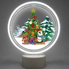 남극의 크리스마스 트리 DIY 무드등 어린이보석십자수_(2568298)