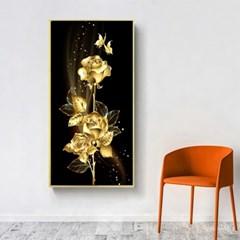 청년토이 DIY 3D 황금장미와 나비 보석십자수