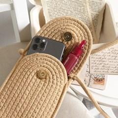 라탄 진주 포인트 핸드폰가방 ba-6913c