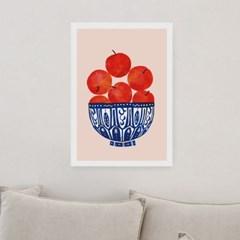 일러스트 포스터 / 인테리어 액자_apples in bowl 01