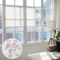 [모모제작소]꽃내음 북유럽 린넨 가리개커튼 62x78(2장)