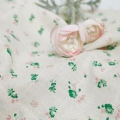 [모모제작소]달맞이꽃 그린 북유럽 코튼 가리개커튼 66x78(2장)
