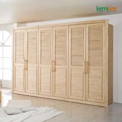 편백나무원목 하프갤러리 장롱세트 KMD-245