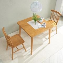 트리빔하우스 밤비 고무나무 2인용 원목 식탁세트_TB21F29