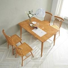 트리빔하우스 밤비 고무나무 4인용 원목의자 식탁세트_TB21F34