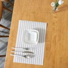 트리빔하우스 밤비 고무나무 6인용 식탁 테이블(의자별도)_TB21F38