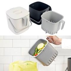 국산 손잡이핸들 음식물쓰레기통 2.6L