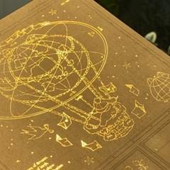 냥냥빔 지도008 금박엽서
