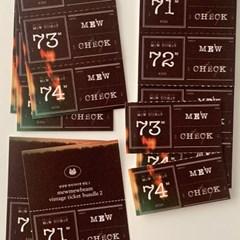 냥냥빔 vintage ticket bundle 2