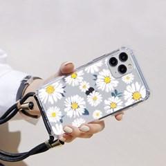 갤럭시 A퀀텀2 (A826) 플라워 핸드폰줄 케이스