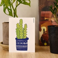 [postcard] Plant 01 반려 식물 선인장 화분 엽서