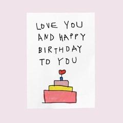 생일카드-love you