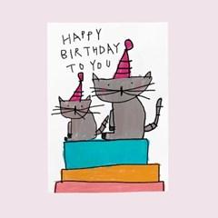 생일카드-야옹이들의축하