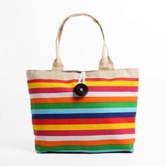 레인보우 버튼 토트백/비치백 숄더백 캐주얼가방