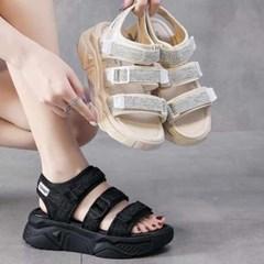 kami et muse Velcro strap ugly sandals_KM21s187