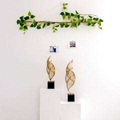 회오리 바람 골드 금속 장식품