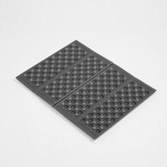4단 접이식 미니 방석매트 5p세트 휴대용 등산매트(블랙)