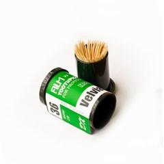 아날로그필름 이쑤시개 면봉 요지 통 케이스 색상랜덤