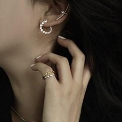 [silver 925] 여자 브랜드 큐빅 은 링귀걸이 선물 추천