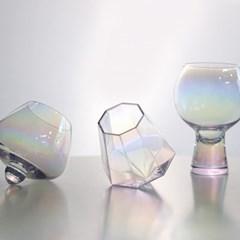 미스틱 홀로그램 와인잔 샴페인 글라스 카페 유리컵