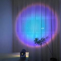 화이트 메탈 프로젝터 써클 조명 썬라이즈 선셋 무드등 4 colors