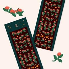Y작업실_꽃, 빨간색 폴꾸 스티커