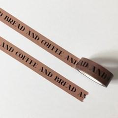 Bread and Coffee 마스킹 테이프