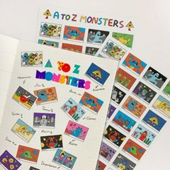 A to Z Monsters Sticker
