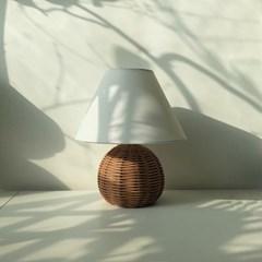 침실 무드등 모던 라탄 스탠드 조명