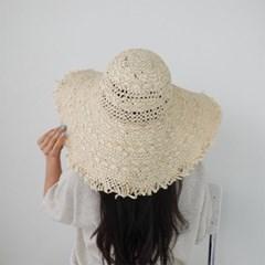 여자 봄 데일리 예쁜 패션 밀짚 라탄 플로피햇 모자