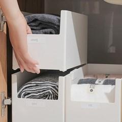 공간활용 슬림 와이드 다용도 수납 정리함 보관함