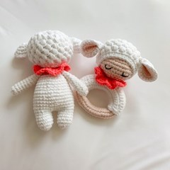 개달당 메리 치발기딸랑이+삑삑이 강아지장난감 2종 SET
