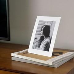 스탠딩 페이퍼프레임 - 5x7 화이트 10매 (종이액자)