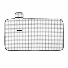 모던체크 방수돗자리(150x80cm) (화이트+블랙)
