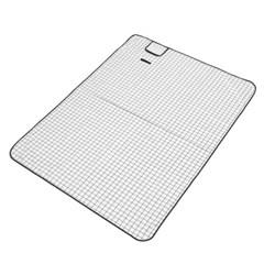 모던체크 방수돗자리(200x150cm) (화이트+블랙)