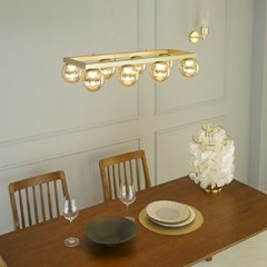 아치 3등 국산 LED 식탁 골드 펜던트 조명