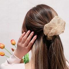 [3개세트][3color] 빈티지 레트로 꽃무늬 플라워 곱창 머리끈 세트