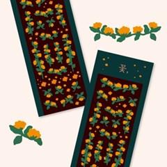 Y작업실_꽃, 노란색 폴꾸 스티커