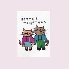 카드-better together(고양이)