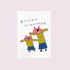카드-better together(토끼)