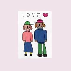 카드-love(강아지커플)