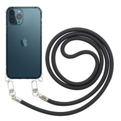 모란카노 아이폰 12 프로 크로스 목걸이 스트랩 휴대폰 케이스