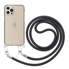 모란카노 아이폰 12 프로맥스 크로스 목걸이 스트랩 휴대폰 케이스
