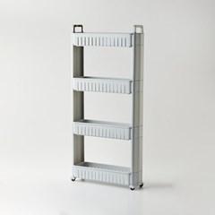 [모던하우스] 틈새주방수납 핸들형 슬림선반 4단