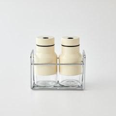 [모던하우스] ON 슬림 스텐유리 양념병 110ml 2개세트 아이보리
