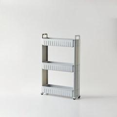 [모던하우스] 틈새주방수납 핸들형 슬림선반 3단