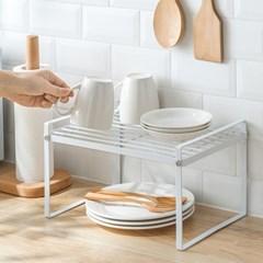 1+1 튼튼한 싱크대 그릇 접시 정리대 수납 2단 선반 2type
